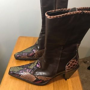 Enzo Angiolino western style leather boots